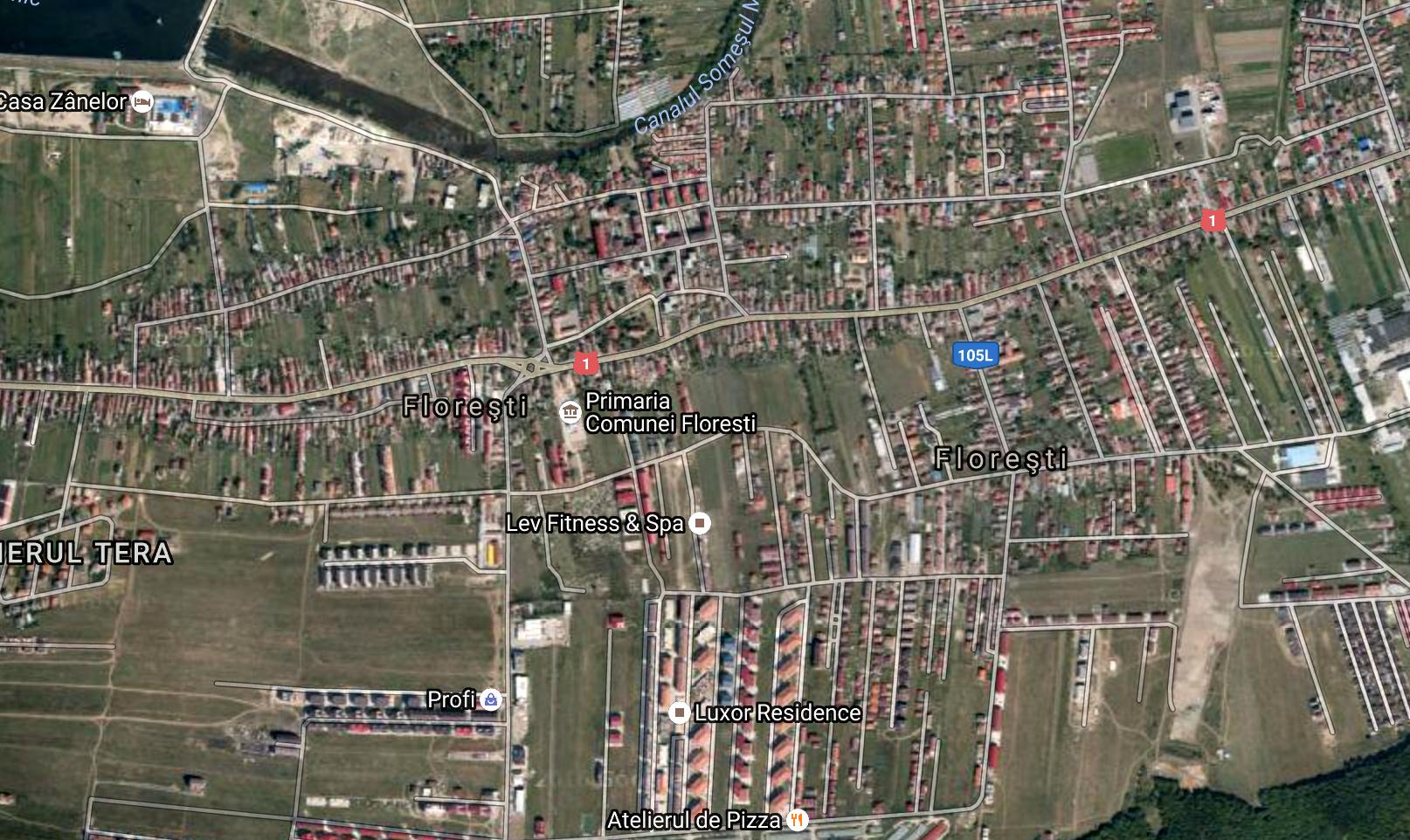 Harta Harta Floresti Cluj