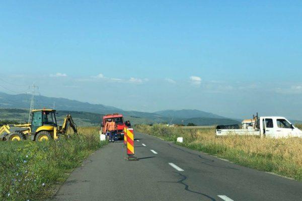 Drumul de legatura Floresti-Grigorescu a fost inchis pentru lucrari de intretinere si largire